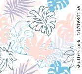 seamless vector background with ... | Shutterstock .eps vector #1070984156