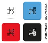 Tic Tac Toe Xo Game Flat Vecto...