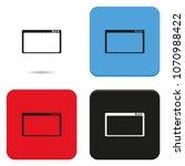 web window flat vector icon.