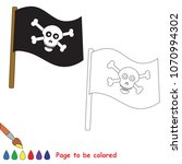 jolly roger to be colored  the...   Shutterstock .eps vector #1070994302