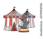 carnival circus design | Shutterstock .eps vector #1070996936