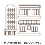 icon set of stores design | Shutterstock .eps vector #1070997962