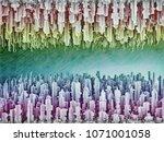 reversible futuristic... | Shutterstock . vector #1071001058
