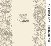 background with baobab  baobab... | Shutterstock .eps vector #1071006542