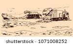 garbage dump sketch | Shutterstock .eps vector #1071008252