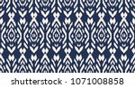 ikat seamless pattern. vector... | Shutterstock .eps vector #1071008858