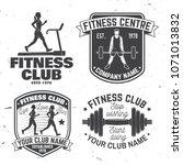set of fitness club badges.... | Shutterstock .eps vector #1071013832
