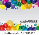 rainbow color circles  vector