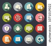 data protection icons | Shutterstock .eps vector #1071019022