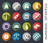 contraception methods icon set | Shutterstock .eps vector #1071019112