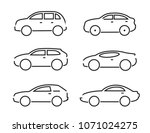 set of black cars icons  ... | Shutterstock .eps vector #1071024275