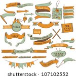vintage label design elements | Shutterstock .eps vector #107102552