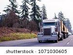 big rig classic powerful semi...   Shutterstock . vector #1071030605