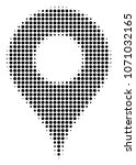 map pointer halftone raster... | Shutterstock . vector #1071032165