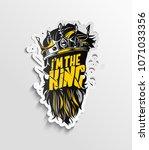 i'm the king  illustration of... | Shutterstock .eps vector #1071033356