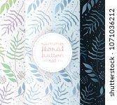 floral background set  floral... | Shutterstock .eps vector #1071036212