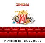 movie cinema premiere poster... | Shutterstock .eps vector #1071055778