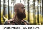 portait of a young bald... | Shutterstock . vector #1071056696