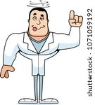 a cartoon doctor looking drunk. | Shutterstock .eps vector #1071059192