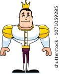 a cartoon prince looking bored. | Shutterstock .eps vector #1071059285
