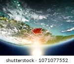 suriname from orbit of planet... | Shutterstock . vector #1071077552
