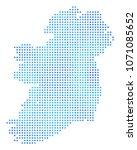 frozen ireland map. vector... | Shutterstock .eps vector #1071085652