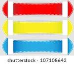 banner set vector   Shutterstock .eps vector #107108642