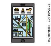 color smartphone gps technology ... | Shutterstock .eps vector #1071092126