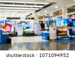 eletronic department store show ... | Shutterstock . vector #1071094952