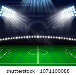 football soccer field playing... | Shutterstock .eps vector #1071100088