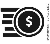 black cents icon | Shutterstock .eps vector #1071101312
