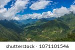 mountain valley on summer day... | Shutterstock . vector #1071101546