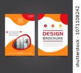 brochure business template | Shutterstock .eps vector #1071108242