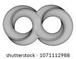 mobius strip ring infinity... | Shutterstock .eps vector #1071112988