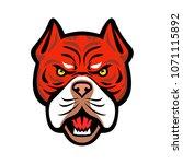 mascot icon illustration of... | Shutterstock .eps vector #1071115892