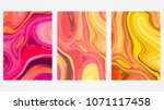backgrounds with marbling.... | Shutterstock .eps vector #1071117458