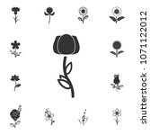 flower icon. detailed set of... | Shutterstock . vector #1071122012