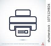 print icon  stock vector... | Shutterstock .eps vector #1071124826