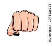 female fist. women rights. girl ... | Shutterstock . vector #1071126218