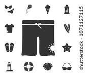 men swimming trunks icon.... | Shutterstock .eps vector #1071127115