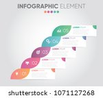 business vector infographic... | Shutterstock .eps vector #1071127268