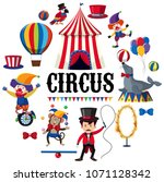 colourful circus element on... | Shutterstock .eps vector #1071128342