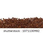 coffee beans background... | Shutterstock . vector #1071130982