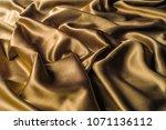 fabric made of silk fabric...   Shutterstock . vector #1071136112