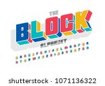 vector of colorful bold font... | Shutterstock .eps vector #1071136322