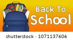 student bag with study object... | Shutterstock .eps vector #1071137606
