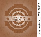 life time warranty vintage wood ... | Shutterstock .eps vector #1071138128