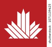 a simple maple leaf icon... | Shutterstock .eps vector #1071139625