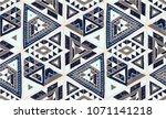 indian geometric folklore... | Shutterstock .eps vector #1071141218