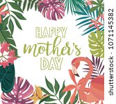 happy mother's day greeting... | Shutterstock .eps vector #1071145382